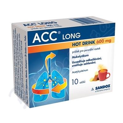 ACC LONG Hot drink 600mg por.plv.sol.10x600mg