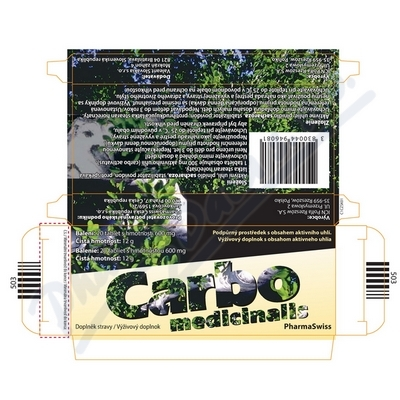 Carbo medicinalis PharmaSwiss tbl.20