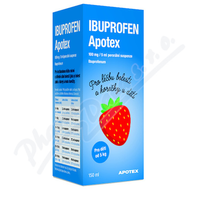 Ibuprofen Apotex 100mg/5ml por.sus. 1x150ml