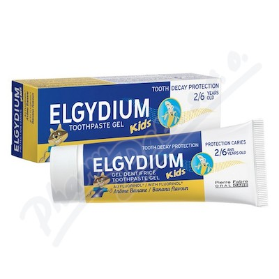 ELGYDIUM KIDS gel.ZP s fluorin.2-6 let 50ml banán