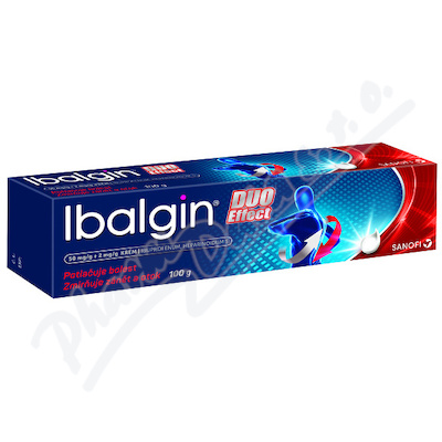 Ibalgin Duo Effect 50mg/g+2mg/g crm. 100g