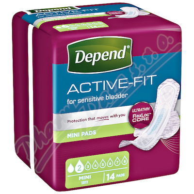 Depend Active-Fit Mini inkont.vložky ženy 14ks