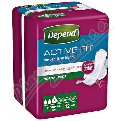 Depend Active-Fit Normal inkont.vložky ženy 12ks
