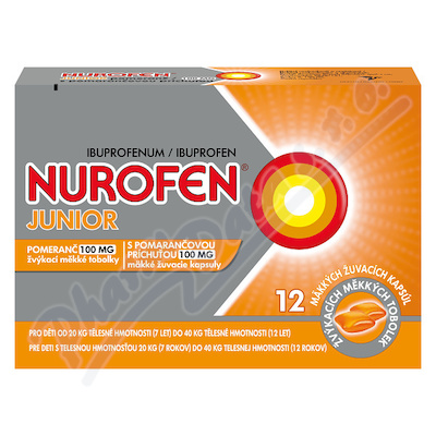 Nurofen Junior Pomeranč 100mg cps.mdm.12