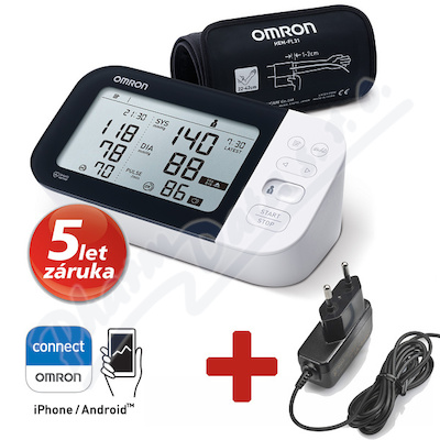 Tonometr dig.OMRON M7 Intelli IT AFib+ZDROJ 5let