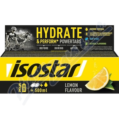 ISOSTAR Powertabs šumivé tablety citrón 10x12g