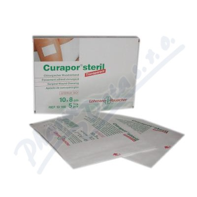 Náplast Curapor Transparent steril.10x8cm/5ks