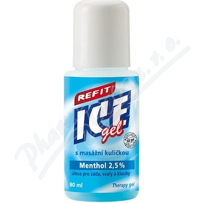 Refit Ice gel Menthol 2.5% roll-on 80ml